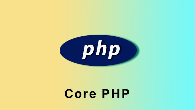 Core PHP online videos